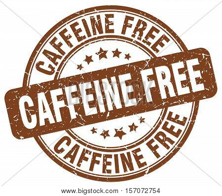 caffeine free. stamp. square. grunge. vintage. isolated. sign