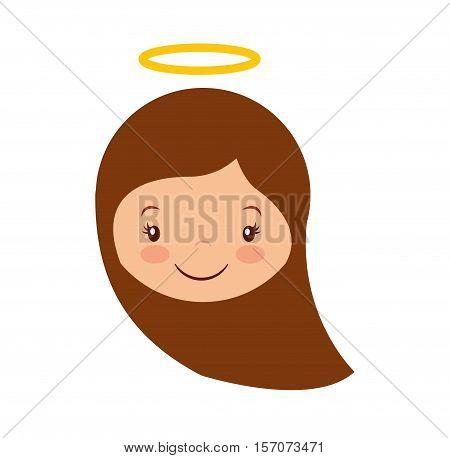 cute angel manger character vector illustration design