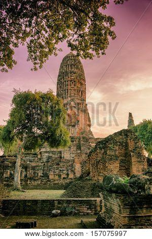 Ancient Temple In Ayuttaya