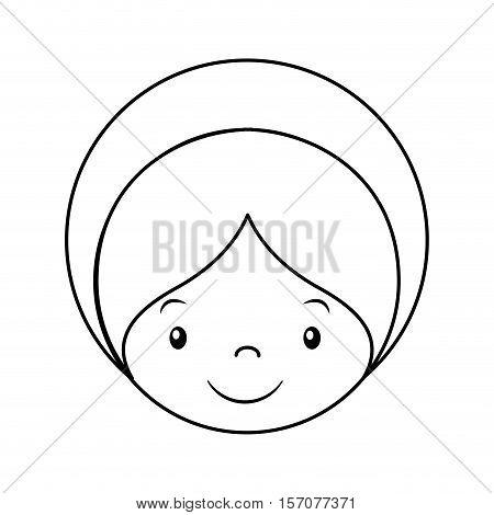 jesus baby manger character vector illustration design