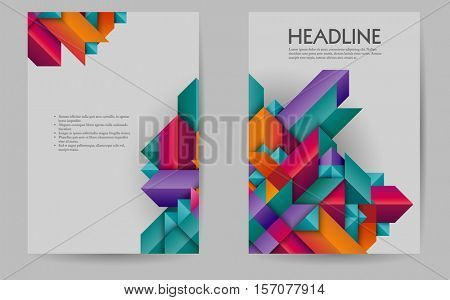 Business brochure design layout template, geometric abstract,  eps10 vector