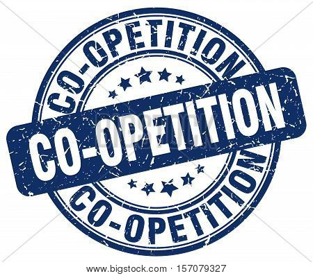 co-opetition. stamp. square. grunge. vintage. isolated. sign