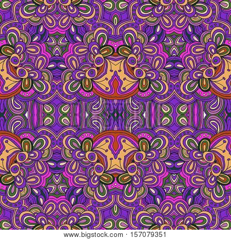 seamless colored flower pattern.  Cinco de mayo