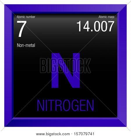 Nitrogen symbol element number 7 vector photo bigstock nitrogen symbol element number 7 of the periodic table of the elements chemistry urtaz Images