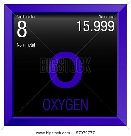 Oxygen symbol element number 8 vector photo bigstock oxygen symbol element number 8 of the periodic table of the elements chemistry urtaz Gallery