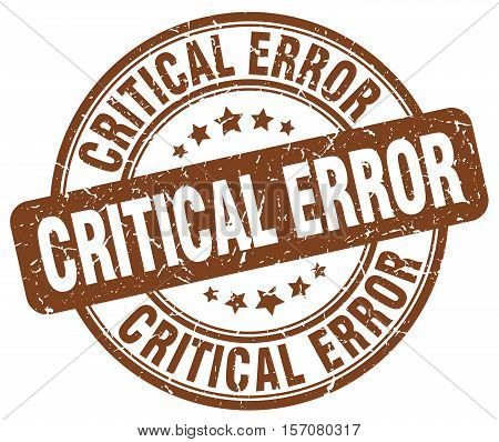 critical error. stamp. square. grunge. vintage. isolated. sign