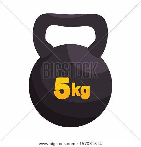kettlebell weight gym sport vector illustration eps 10