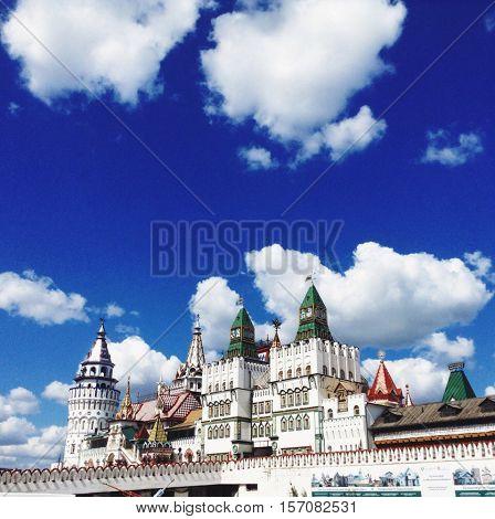 Izmaylovo kremlin in Moskow in the summer
