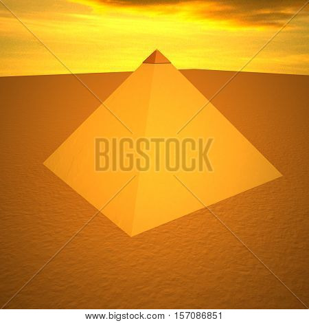 Pyramid With Golden Top