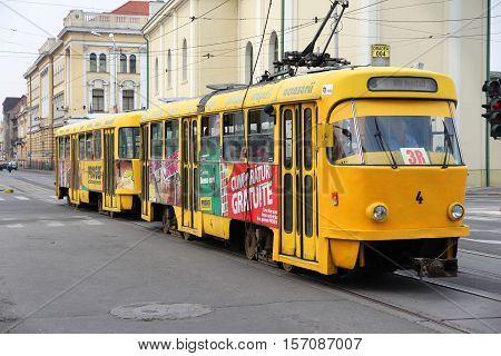 Electric Tram In Romania