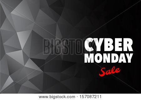 Cyber Monday Advertising Poster Design Vector Template