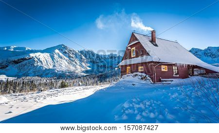Warm Accommodation In A Mountain Cottage In Winter