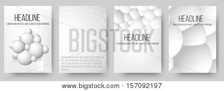 Abstract 3D background with geometric design elements. Creative concept vector background of cells HUD, bacteria. Polygonal design style letterhead and brochure for business. EPS 10 vector illustration