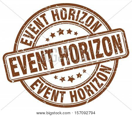 event horizon. stamp. square. grunge. vintage. isolated. sign