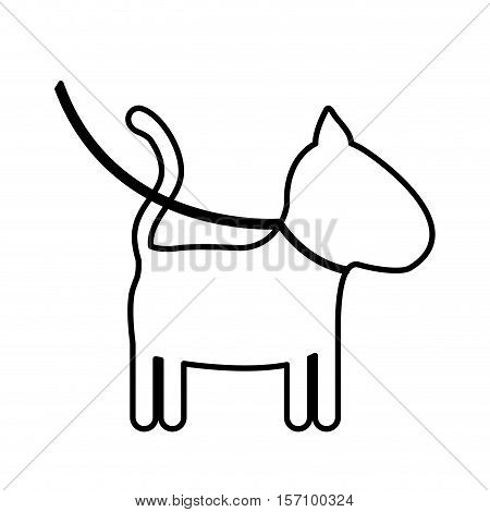 Dog icon. Mascot pet animal and canine theme. Isolated design. Vector illustration