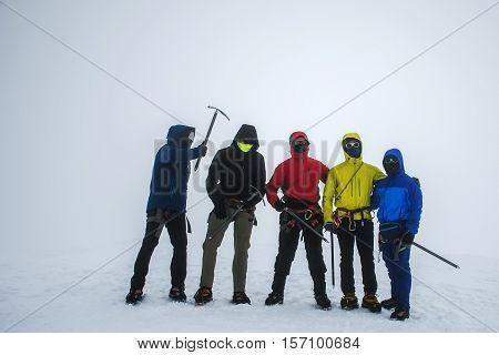 Group Hiking the glacier Hvannadalshnukur highest summit in Iceland mountain landscape Vatnajokull park 2