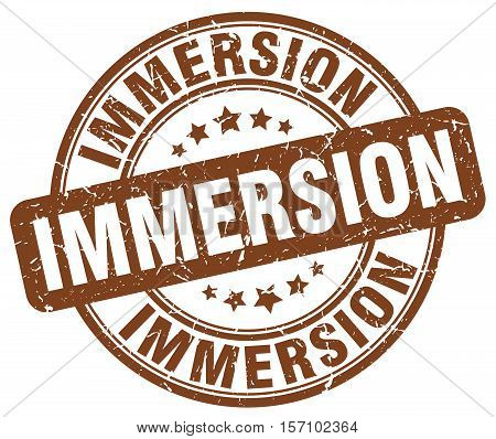 immersion. stamp. square. grunge. vintage. isolated. sign