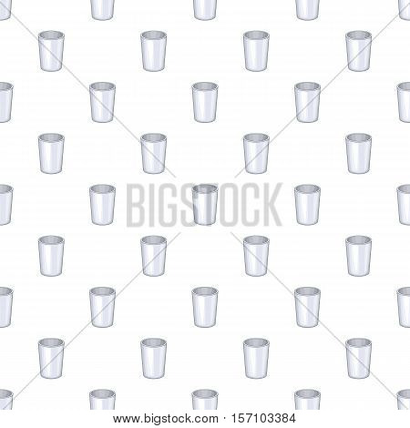 Glass cup pattern. Cartoon illustration of glass cup vector pattern for web