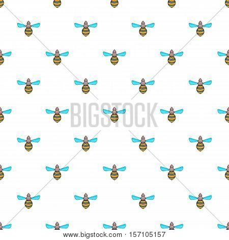 Wasp pattern. Cartoon illustration of wasp vector pattern for web
