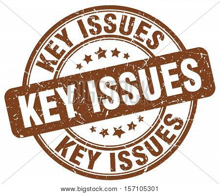 key issues. stamp. square. grunge. vintage. isolated. sign