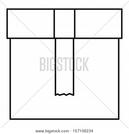 Carton package box icon. Outline illustration of package box vector icon for web design