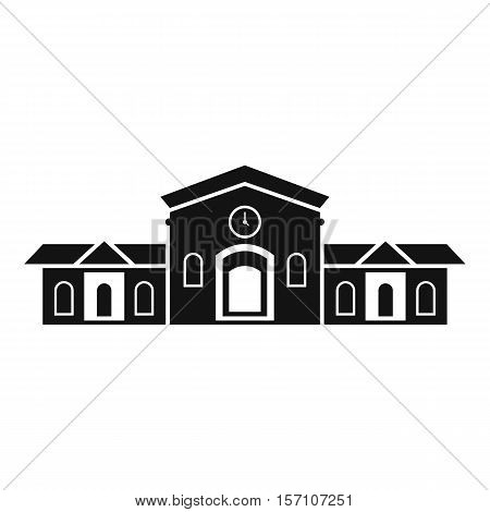 Railway station building icon. Simple illustration of railway station building vector icon for web design