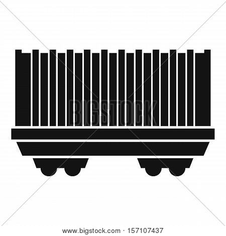 Cargo wagon icon. Simple illustration of cargo wagon vector icon for web design