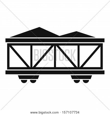 Train cargo wagon icon. Simple illustration of cargo wagon vector icon for web design