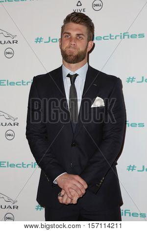 LOS ANGELES - NOV 14:  Bryce Harper at the Unveiling Next Era Jaguar Vehicle at Milk Studios on November 14, 2016 in Los Angeles, CA