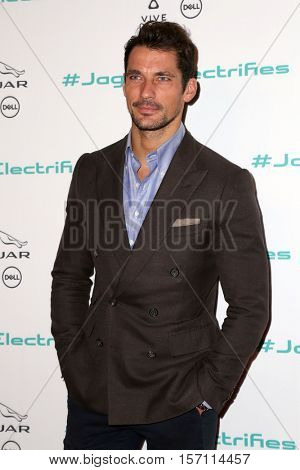 LOS ANGELES - NOV 14:  David Gandy at the Unveiling Next Era Jaguar Vehicle at Milk Studios on November 14, 2016 in Los Angeles, CA