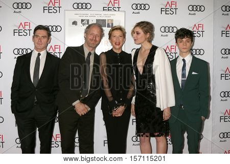 LOS ANGELES - NOV 16:  Billy Crudup, Mike Mills, Annette Bening, Greta Gerwig, Lucas Jade Zumann at the Screening of