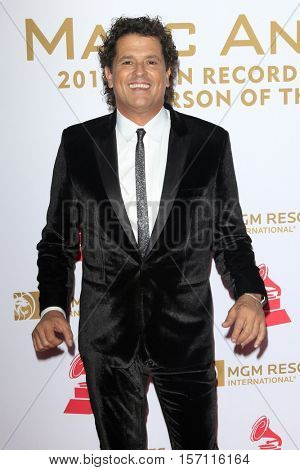 LAS VEGAS - NOV 16:  Carlos Vives at the 2016 Latin Recording Academy Person of the Year at MGM Grand Garden Arena on November 16, 2016 in Las Vegas, NV