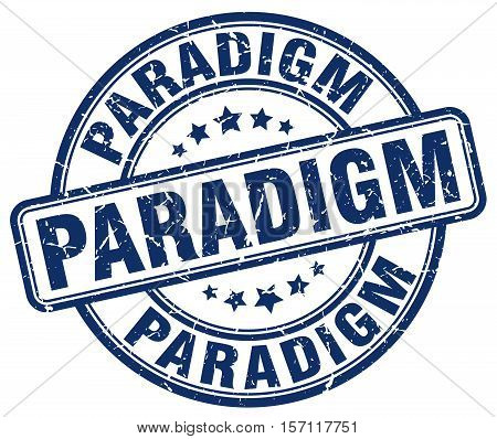 paradigm. stamp. square. grunge. vintage. isolated. sign