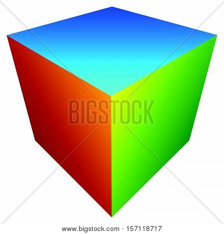 Colorful Cube Icon. Modern, Bright Generic Icon / Logo W Stacked Cubes