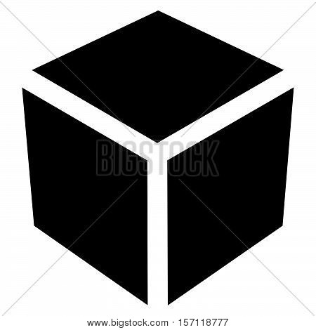 Crate / Box Or Cube Icon, Symbol. Geometry, Shipping, Delivery, Packaging, Logistics Concept Icon.