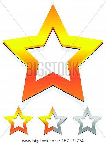 Star Icon For Rating, Ranking, Quality Concepts