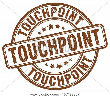 touchpoint. stamp. square. grunge. vintage. isolated. sign