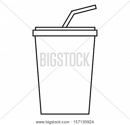 Soda drink icon. Cola cold liquid and beverage theme. Isolated design. Vector illustration