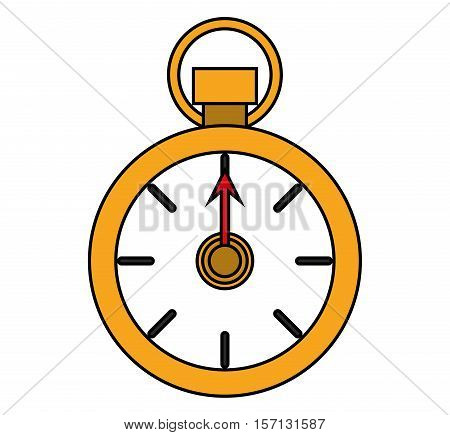 Chronometer icon. Sport hobby competition and game theme. Isolated design. Vector illustration