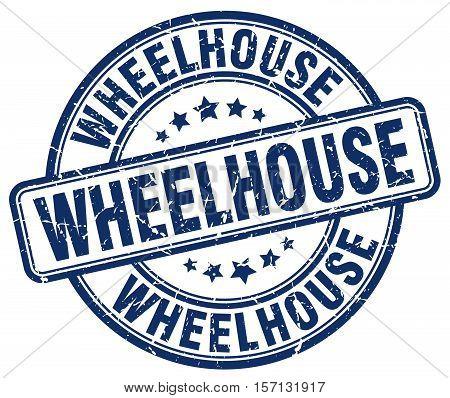wheelhouse. stamp. square. grunge. vintage. isolated. sign