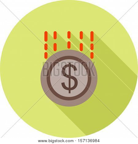 Funding, money, investment icon vector image. Can also be used for startup. Suitable for web apps, mobile apps and print media.