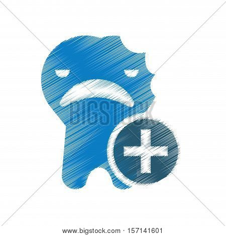 dental healthcare drawing icon vector illustration design