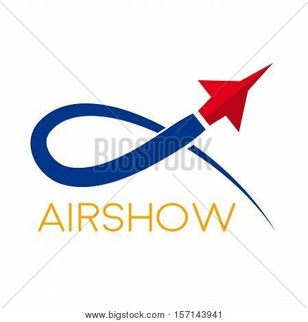Vector airshow display airplane  in abstract shape
