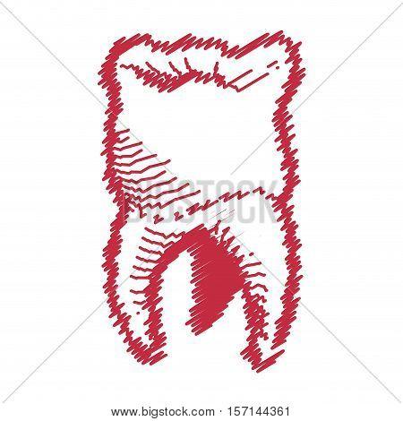 dental healthcare drawing icon vector illustration design