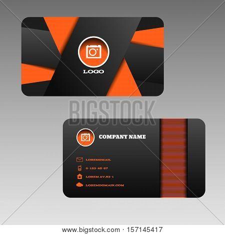 Business card orange vector photo free trial bigstock business card orange black background design vector eps 10 colourmoves