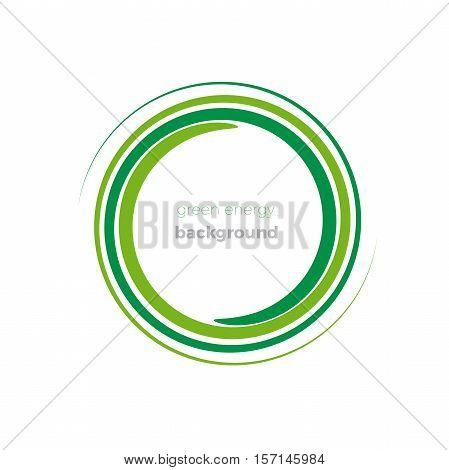 Vector logo Green Energy on white Background