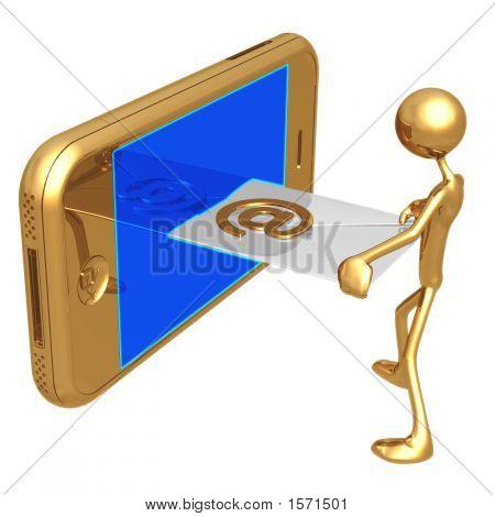 Sending Receiving E-Mail On A Touch Screen Cellphone