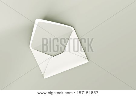 3d illustration of an empty envelope isolated on white background