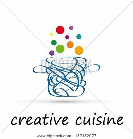 Vector logo Creative Cuisine in abstract shape