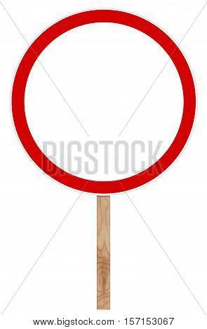 Prohibitory traffic sign isolated on white - Movement Prohibition